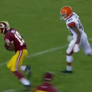 Washington Redskins quarterback Colt McCoy airs it out for 43 yards