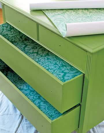 Wallpapered Drawers