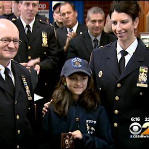 NYPD Honors Texas Girl Who Sent Cards Of Support After Deaths Of 2 Brooklyn Officers