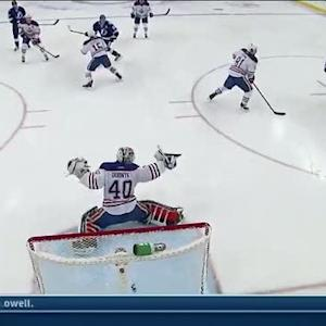 Stamkos snaps it to the roof