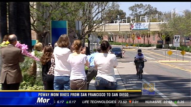 Poway mom bikes from San Francisco to San Diego