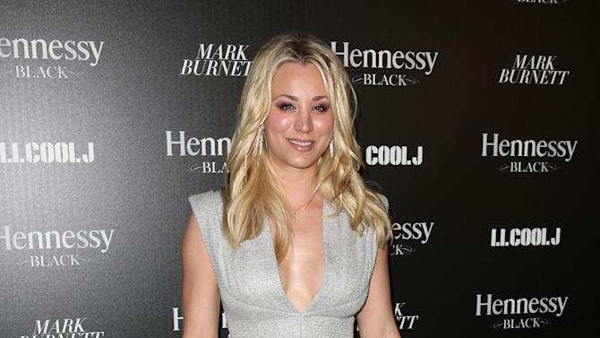 Kaley Cuoco attends Hennessy Black: A Dinner with LL Cool J and Mark Burnett Celebrating Music's Biggest Night Out, on Sat., Feb., 9, 2013 in Los Angeles. (Photo by Casey Rodgers/Invision for Hennessy/AP Images)