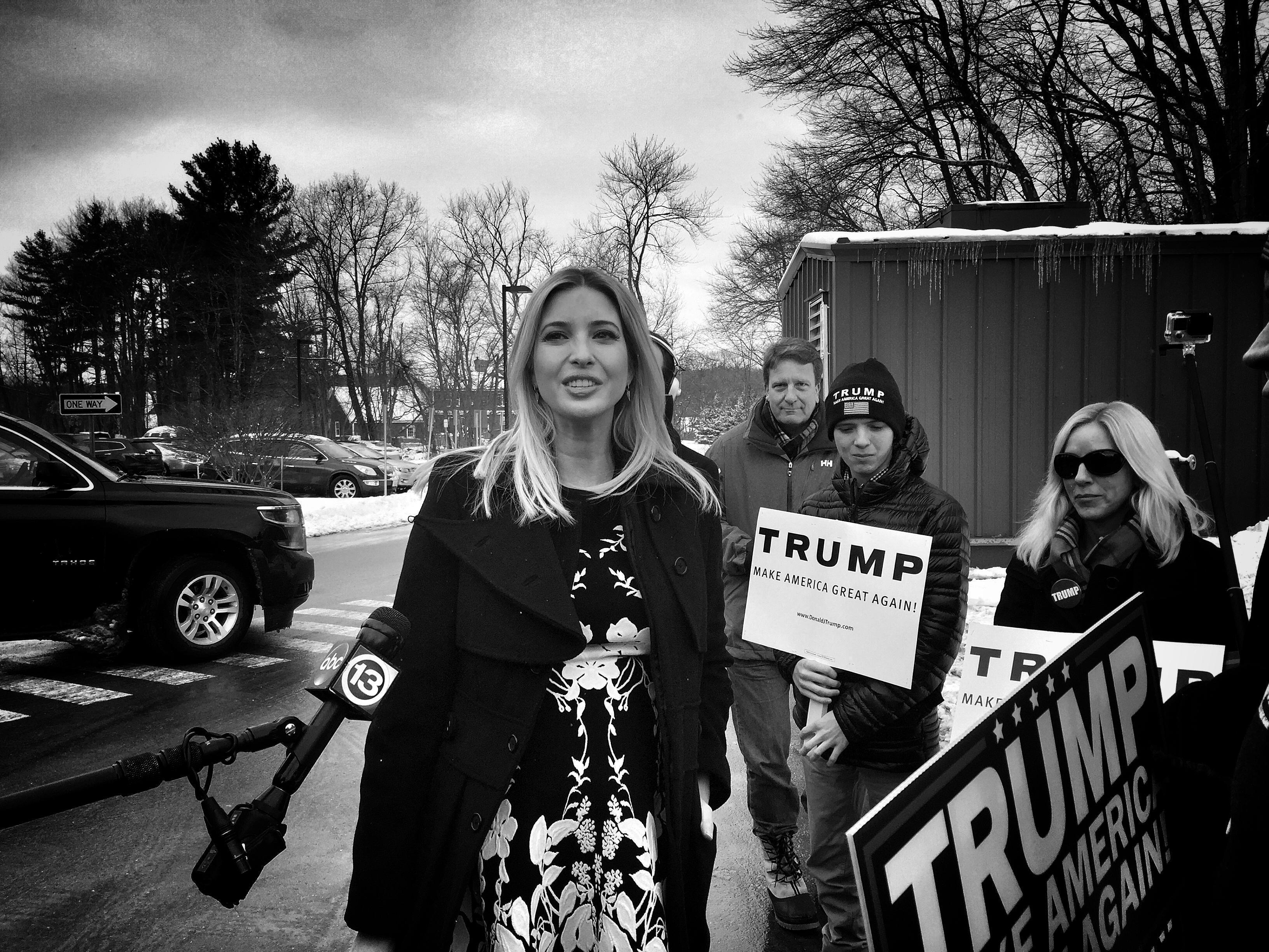Ivanka, with her bump, stumps for Papa Trump
