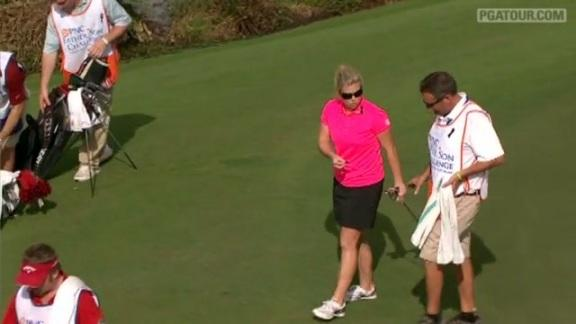 Zoeller birdies No. 16 in Round 1 of PNC Father-Son