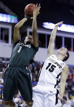 Purdue beats Spartans 62-47 for Big Ten title