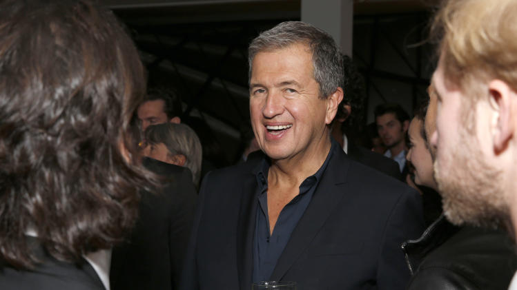 Mario Testino celebrates his Fashion Icon Exhibit with cocktails by Porton at the Peruvian native's exhibition at Prism on Saturday February 23, 2013 in Los Angeles. (Photo by Todd Williamson/Invision for Porton/AP)