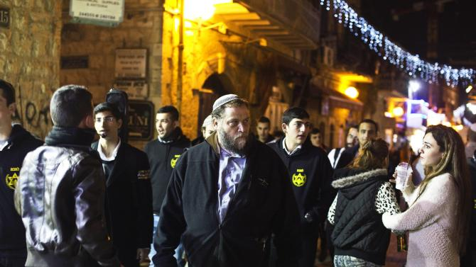Leader of the far-right Israeli group gathers with fellow activists in Jerusalem