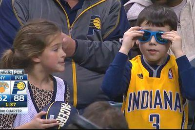 This kid at the Pacers game is 100 times cooler than you