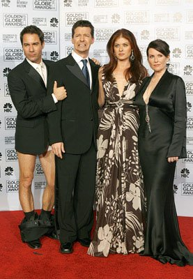 Eric McCormack, Sean Hayes, Debra Messing and Megan Mullally 63rd Annual Golden Globe Awards - Press Room Beverly Hills, CA - 1/16/06