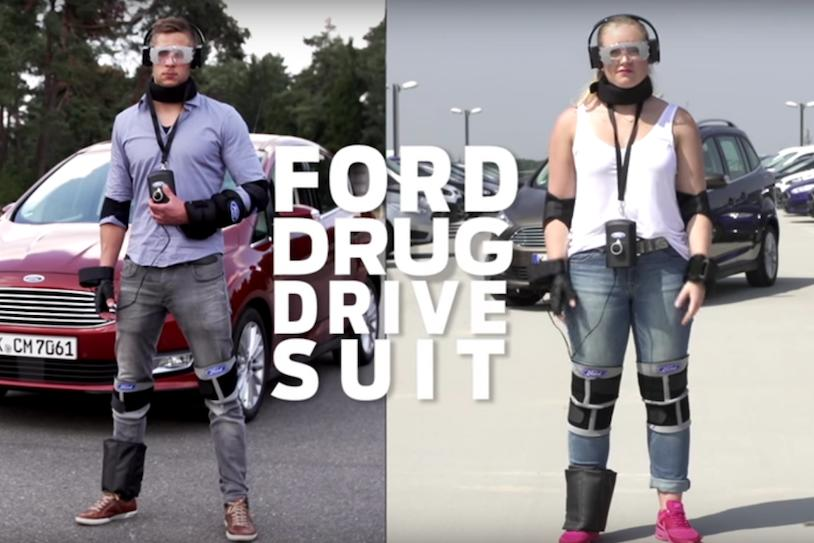 Ford's 'Drug Driving Suit' simulates what its like to drive while you're high as a kite