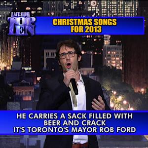 David Letterman - Josh Groban Christmas Songs Top Ten