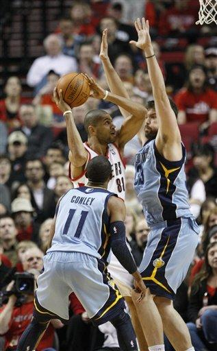 Batum leads Blazers to 97-93 win over Grizzlies