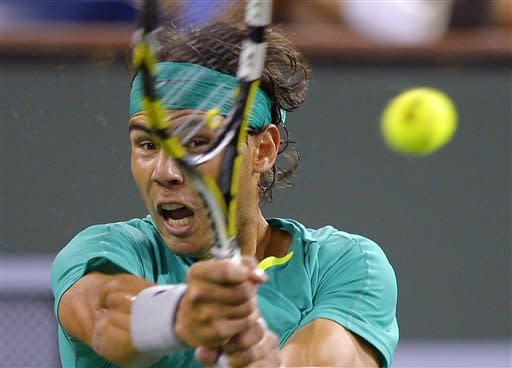 Nadal beats Federer 6-4, 6-2 at Indian Wells