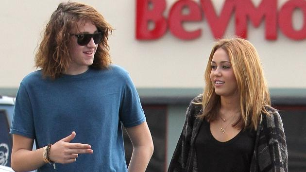 Miley Cyrus and Braison Cyrus are seen at Panera Bread bakery in Los Angeles on September 9, 2010 -- Getty Premium