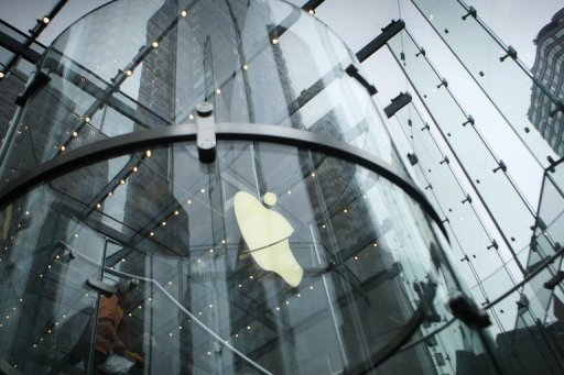 <p>An Apple Store May 23, 2011 in New York City. A judge late denied Apple's request to ban a set of Samsung smartphones from the US market after a jury found the South Korean electronics titan guilty of patent infringement.</p>