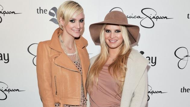 Ashlee Simpson and Jessica Simpson promote their new tween line for girls 'Jessica Simpson Girls' at The Bay in Toronto, Canada, on December 3, 2011 -- Getty Images