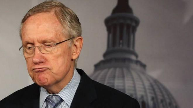 Harry Reid is waiting not so patiently for Ted Cruz to finish.
