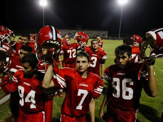 Premont High football team — Corpus Christi Caller-Times/Michael Zamora/AP