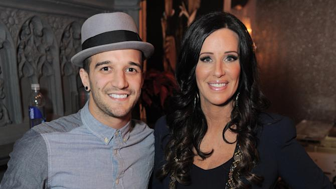 Mark Ballas, left, and Patti Stanger attend the On Air with Ryan Seacrest KIIS-FM Pick Your Purse Party on Thursday, Nov. 15, 2012 at the House of Rock in Santa Monica, Calif. (Photo by Jordan Strauss/Invision for House of Rock/AP Images)