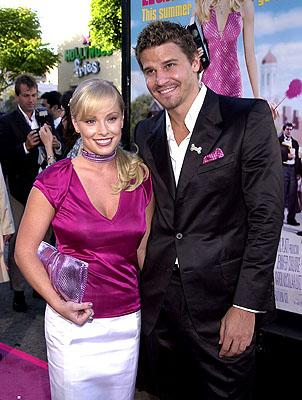Jaime Bergman and David Boreanaz at the Westwood premiere of MGM's Legally Blonde