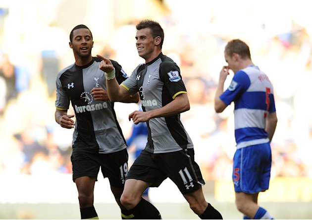 Gareth Bale, pictured right, scored Tottenham's second goal in their victory over Reading