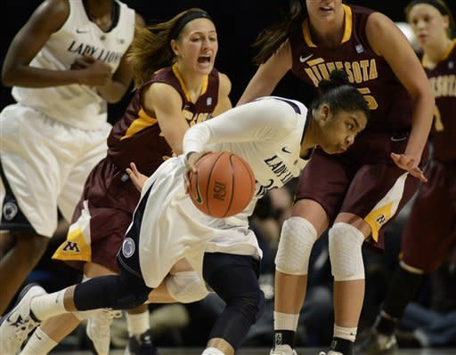 No. 8 Penn State women edge Minnesota 64-59