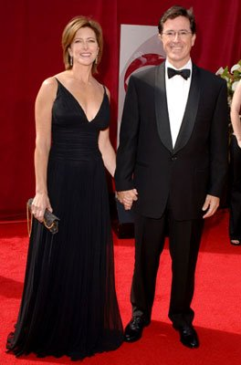 Stephen Colbert and wife 57th Annual Emmy Awards Arrivals - 9/18/2005