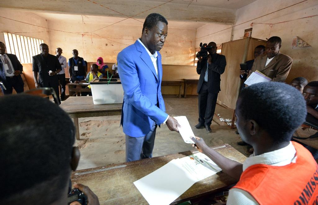 Togo president extends lead in vote after partial results