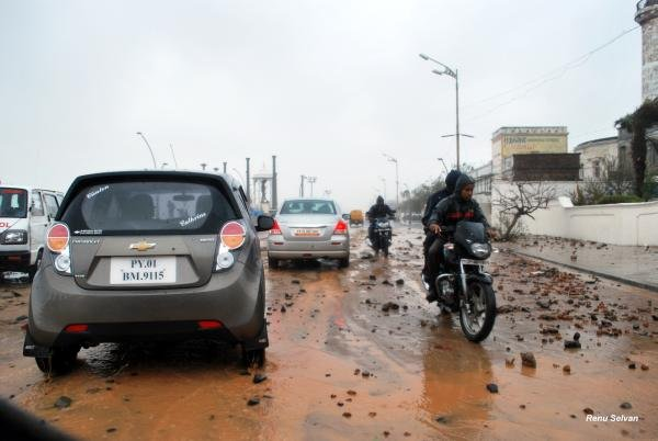 Puducherry after Cyclone Thane