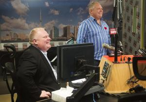 Toronto Mayor Rob Ford and his brother, Toronto city …