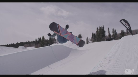 Gretchen Bleiler snowboard training