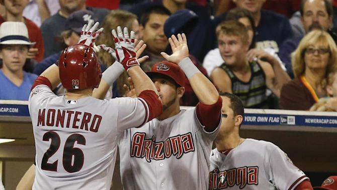 Montero hits 2-run homer, D-backs beats Padres 3-1