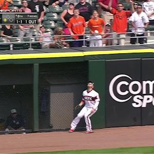 Shuck's leaping catch