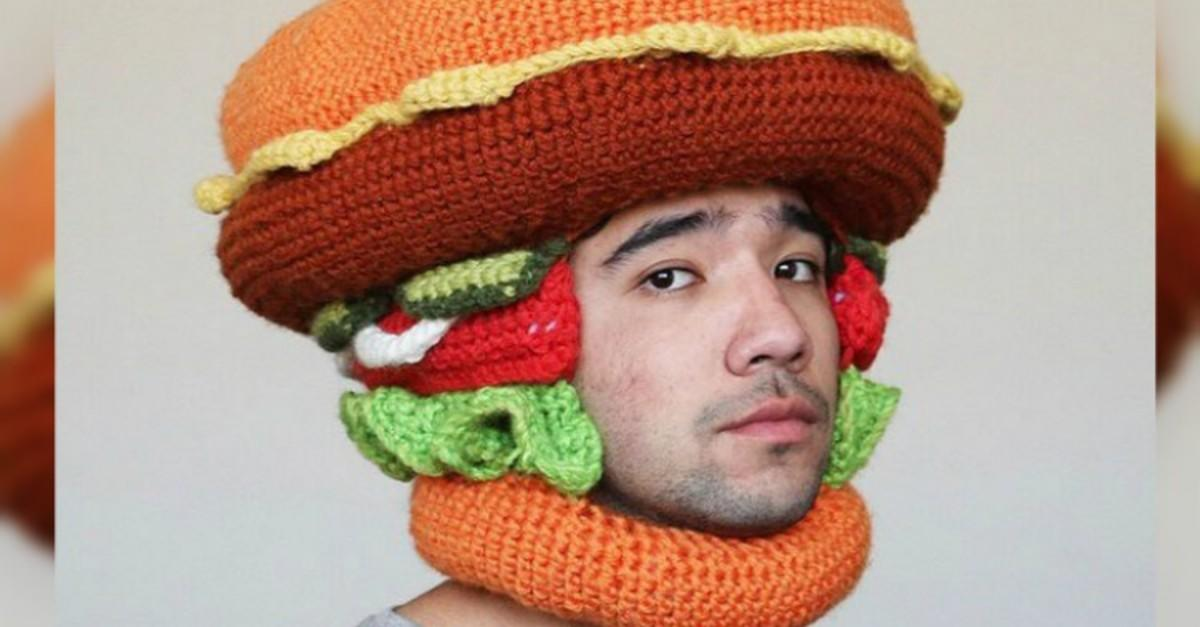 18 Crochet Hats That Prove You Are What You Eat