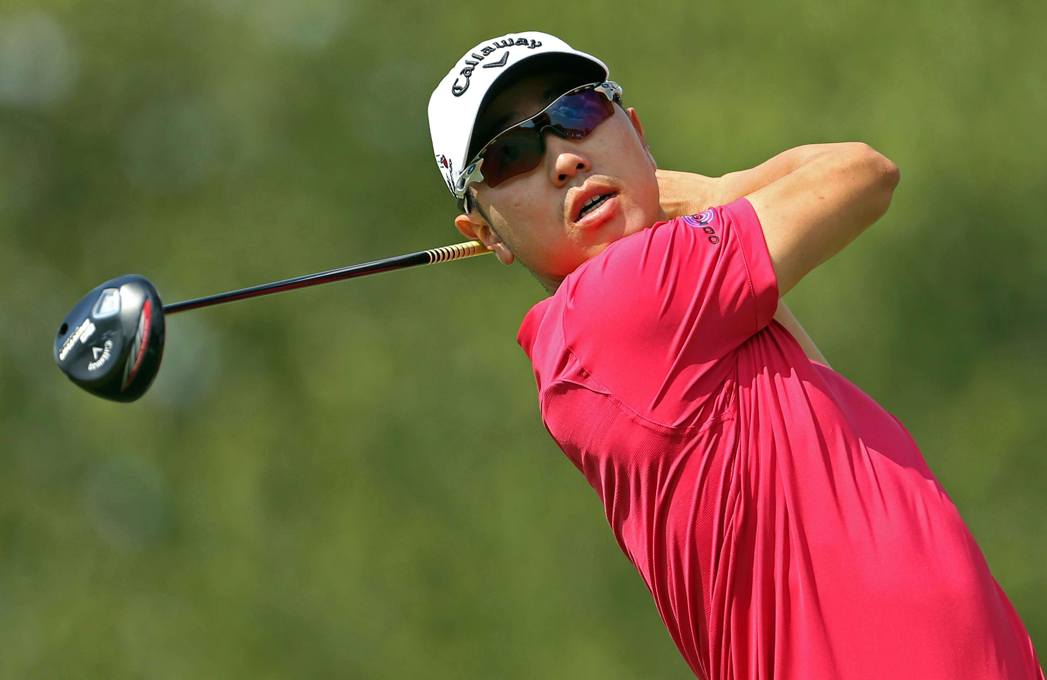 Bae tied for lead at Barclays as military service looms