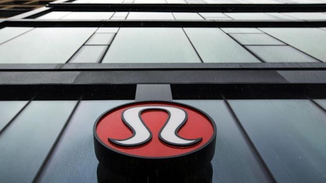 A Lululemon Athletica logo is seen outside one of the company's stores in New York