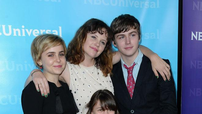 "Mae Whitman, Sarah Ramos, Miles Heizer, and Savannah Paige Rae (""Parenthood"") attend the 2012 NBC Universal Winter TCA All-Star Party at The Athenaeum on January 6, 2012 in Pasadena, California."