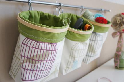Embroidery Hoop Fabric Bins
