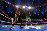 Chad Dawson (R) during the WBC & Ring Magazine Light Heavyweight Title fight against Bernard Hopkins on April 28. Dawson took the World Boxing Council light heavyweight crown from veteran Hopkins with a majority decision at the Boardwalk Hall arena