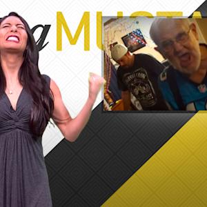 Mustard Minute: Panthers fan Angry Grandpa destroys TV during Super Bowl 50