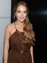 Lindsay Lohan attends Lady Gaga &#39;Fame&#39; Eau de Parfum Launch Event at Guggenheim Museum in New York City on September 13, 2012  -- Getty Premium