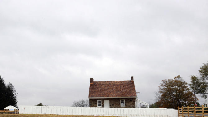 This recently restored home of Mary Thompson in Gettysburg, Pa., served as Confederate Gen. Robert E. Lee's headquarters at Gettysburg, seen Thursday, Oct. 27, 2016. A preservation group is wrapping up a $6 million project to restore the stone house and grounds of this important historic building. More than 600 people are expected at a ribbon-cutting ceremony at the historic site Friday. (AP Photo/Timothy Jacobsen)