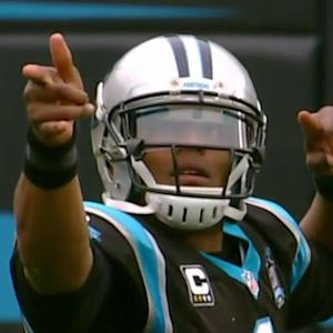 Carolina Panthers quarterback Cam Newton returns, scrambles for early first down