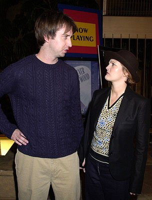 Tom Green and Drew Barrymore at the Hollywood premiere of Donnie Darko