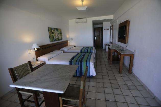 A view of a room in the Portobello Resort, where the Italy soccer team will be based during the 2014 World Cup, in Mangaratiba
