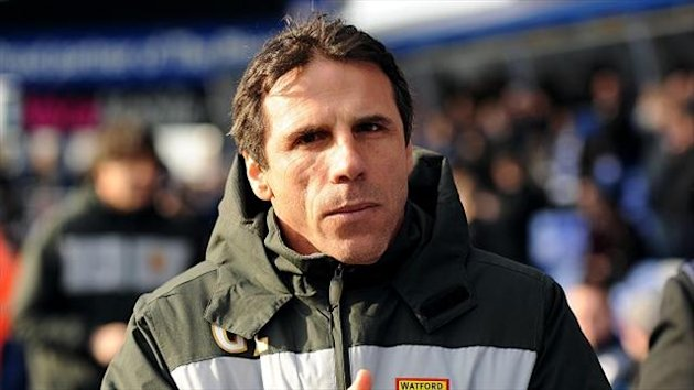 Gianfranco Zola saw his side beat Blackburn at Vicarage Road