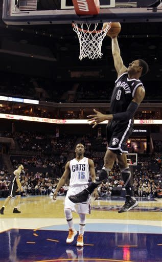 Williams, Johnson lead Nets over Bobcats, 99-78