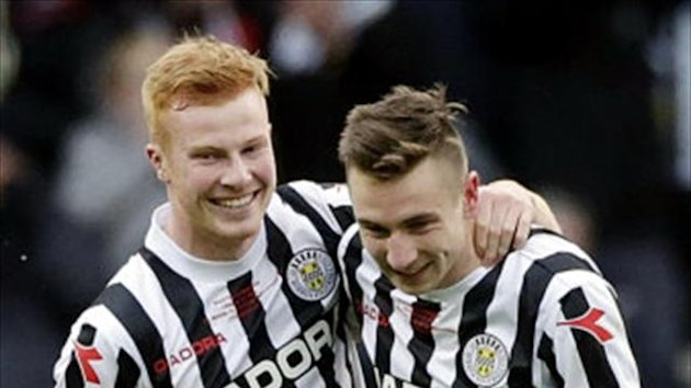 Conor Newton, left, and Paul Dummett, right, have been a big hit at St Mirren