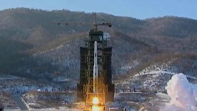FILE - In this Dec. 12, 2012 file image made from video, North Korea's Unha-3 rocket lifts off from the Sohae launching station in Tongchang-ri, North Korea. North Korea's top governing body warned Thursday, Jan. 24, 2013 that the regime will conduct its third nuclear test in defiance of U.N. punishment, and made clear that its long-range rockets are designed to carry not only satellites but also warheads aimed at striking the United States. (AP Photo/KRT via AP Video, File)