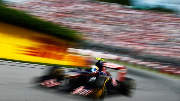 Jean-Eric Vergne of France and Scuderia Toro Rosso drives during the Canadian Formula One Grand Prix at the Circuit Gilles Villeneuve on June 10, 2012 in Montreal, Canada. (Photo by Paul Gilham/Getty Images)
